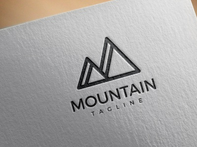 Logo Mountain branding logo design