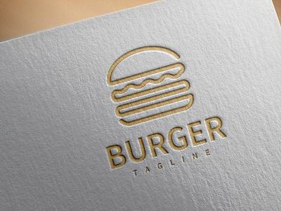 Logo Burger hamburger sandwich dinner cafe illustration tasty lunch sign american logo delicious dog hot vector restaurant retro menu food fast meat