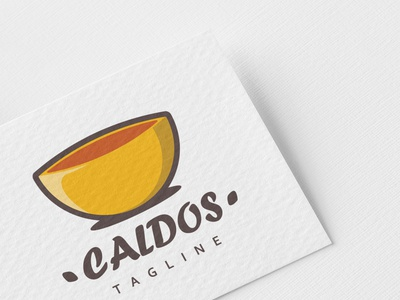 Logo Caldos menu broth ladle lunch isolated recipe sign hot design logo vector cooking kitchen pan cook restaurant food background culinary illustration