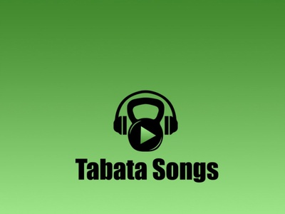 Tabata song  Fitness with music  logo vector app minimal design logo