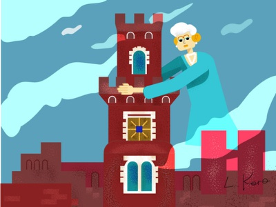 Windsor 800x600 01 tower historic colorful character illustration vector