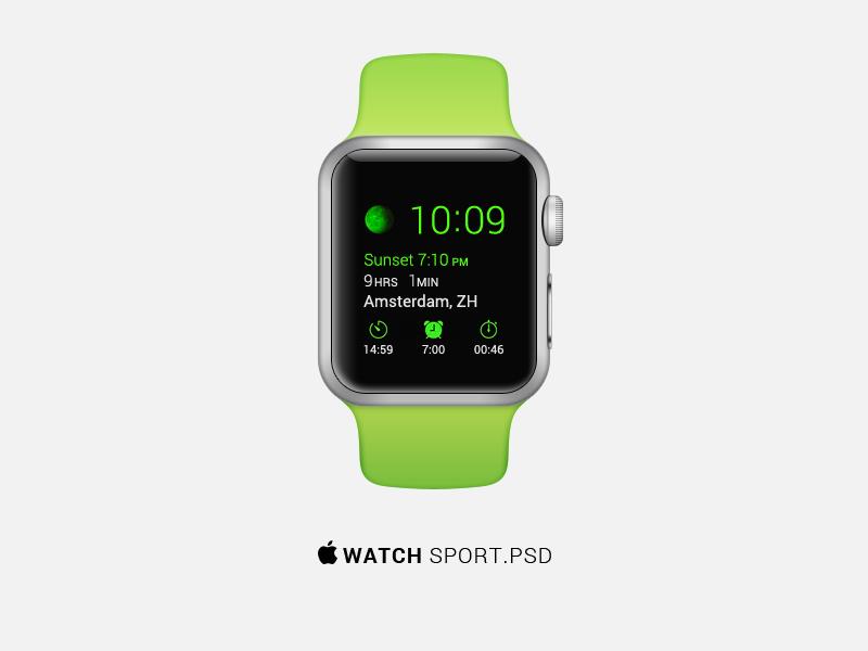 Apple Watch Sport PSD  apple watch sport psd free freebie