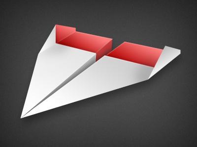 Paper plane icon paper paper plane icon red