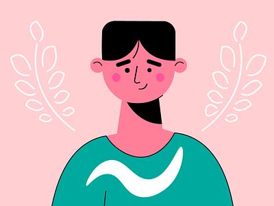 Smiling Avatar smiling face avatar flat character design drawing ui illustration adobe illustrator