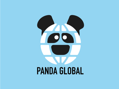 Daily Logo Challenge - Day 3 Panda Logo logo design illustration art vector pandaglobal panda logo panda artwork logo branding illustration dailylogochallenge