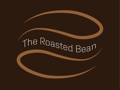 Daily Logo Challenge - Day 6 Coffee Shop Logo the roasted bean coffee shop logo coffee shop vector logo design artwork adobeillustator logo branding illustration dailylogochallenge