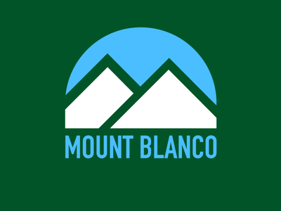 Daily Logo Challenge - Day 8 Ski Mountain Logo mount blanco ski mountain logo logo design logo adobeillustator branding illustration dailylogochallenge