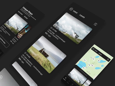 Airbnb App Redesign Challenge trip planner trip map hotel app dark mode redesign concept appointment booking tracking app travel app minimal ui ux app branding