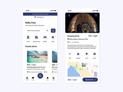 Booking App Redesign Challenge design hotel app booking.com booking trip planner tracking app travel app redesign concept app appointment booking