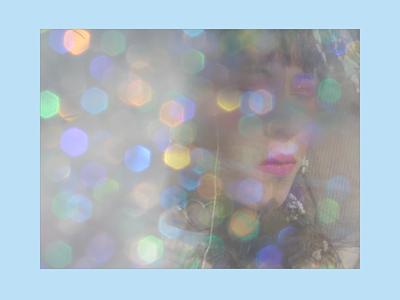 Dreamy handmade sparkly filter! handmade experimental glittery sparks dreamy filters photo photography cute baby blue