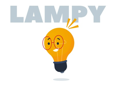 LIGHT BULB | NETAFIM icon flatdesign simple flat vector art cartoon illustration animation cute geek smart character lamp