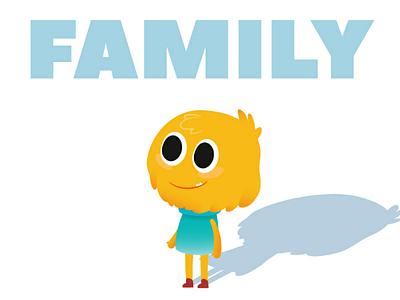 Monster Family love myart baby work family vectorart vector cute characterdesign illustration