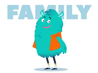 Monster Family daddy love myart baby work family vectorart vector cute characterdesign illustration