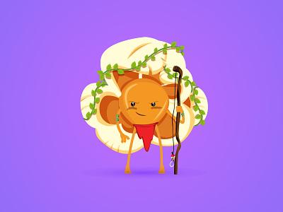 Pop-Up nature boy tarzan jungle cartoon commercial smile emoji corn character pop opcorn