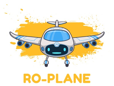RO_PLANE airplane illustration character design robot toy machine video app animation vector
