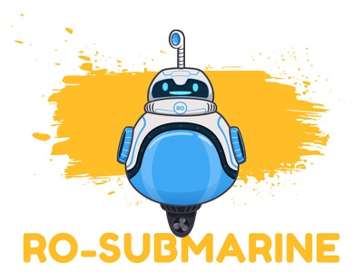 RO_SUBMARINE cute submarine illustration character design robot toy machine video app animation vector