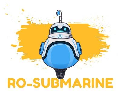 RO_SUBMARINE cute submarine illustration character design robot toy machine video app animation vector