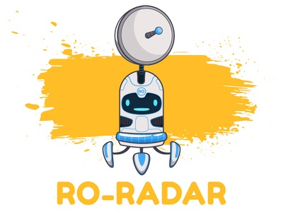 RO_RADAR moon bot radar illustration character design robot toy machine video app animation vector