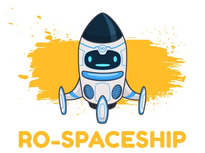 RO_SPACESHIP moon spaceship space illustration character design robot toy machine video app animation vector