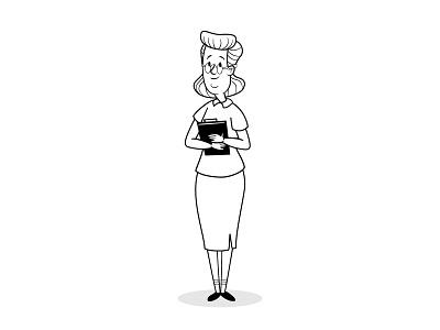 Tzabar Medical old school retro lady social network socialmedia social medical character design illustration