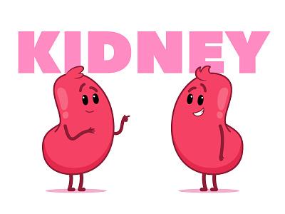 Matnat Chaim | Kidney life health transplantation medicine animation cartoon illustration character design kidney