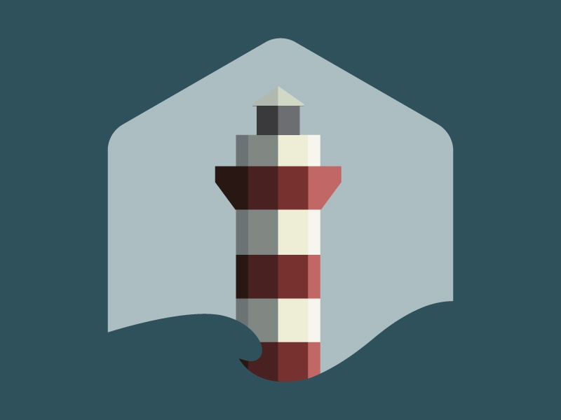 Lighthouse Icon icon lighthouse hexagon blue red logo