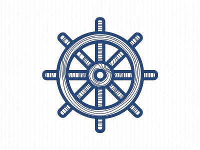 Ship Helm Icon ship boat helm icon logo sea blue