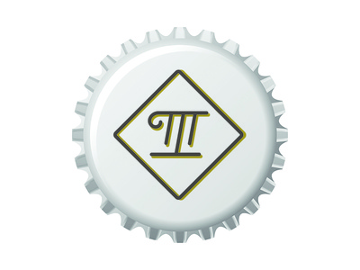 ILL MANNERED Brewing Co brew bottle cap m i monogram icon logo beer craft beer