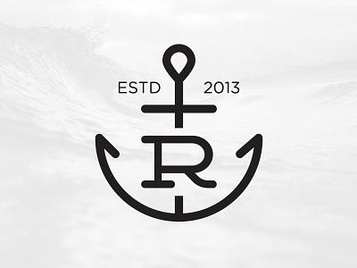 Rost Coffee Logo Concept r logo logo coffee anchor