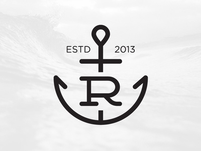 Rost Coffee Logo Concept r logo logo coffee anchor