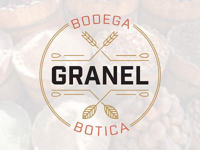 Granel Logo linework badge ingredient logo botica bodega