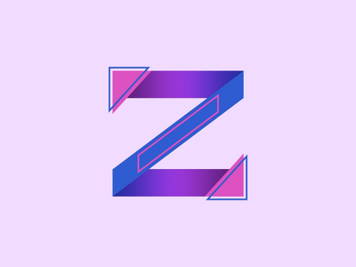 Z single letter graphic design design logo daily logo challenge z