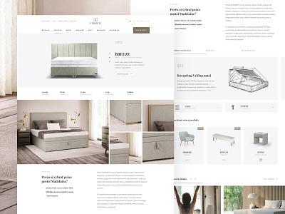 Ferreti Detail page detail website webdesign web ux ui sleep interior  minimal homepage home header ecommerce clean
