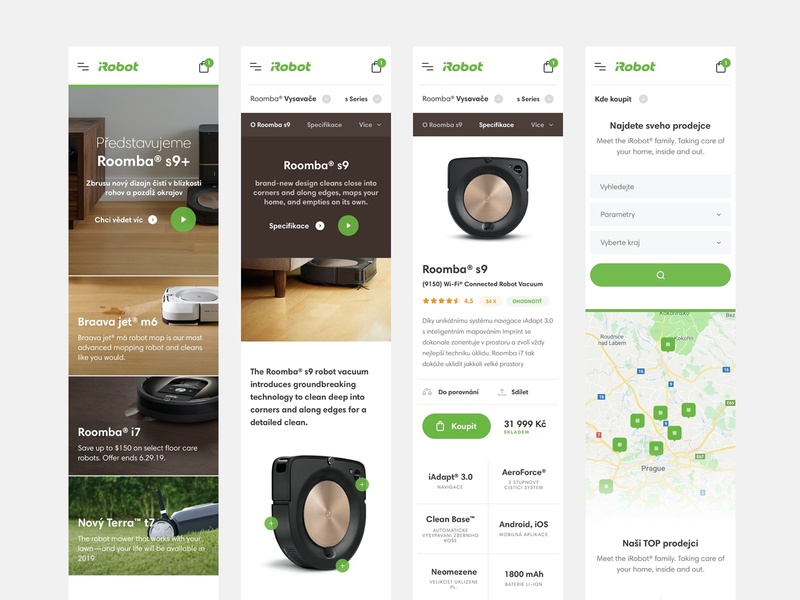 iRobot Responsive webdesign web ux ui technology minimal interior homepage home header ecommerce detail clean