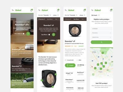 iRobot Responsive webdesign web ux ui technology minimal interior homepage home header ecommerce detail clean