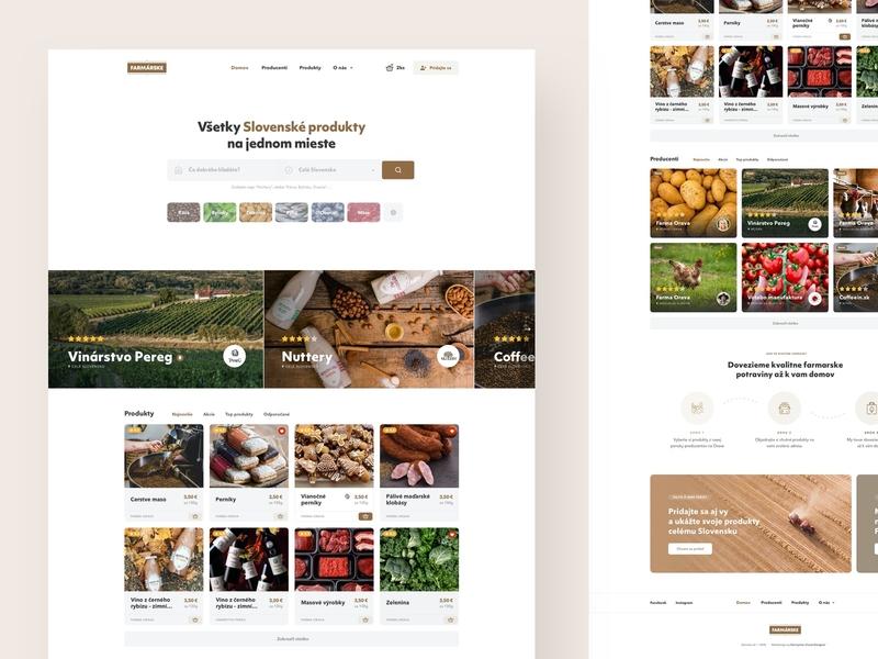 DomaceSK ecommerce shop product farm food ux ui clean header website landing webdesign web