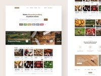 DomaceSK ecommerce shop product farm food ux ui clean header website landing webdesign web