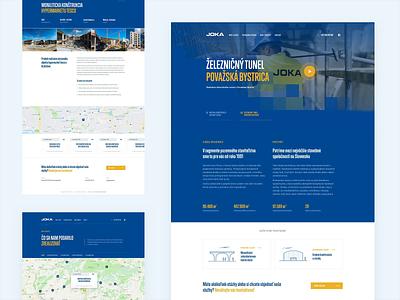 Joka Construction website webdesign web ux ui minimal landing homepage header clean building construction