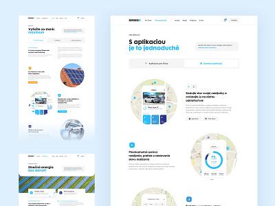 Sminn Info Pages website webdesign web ux ui minimal white landing homepage header ecommerce clean car