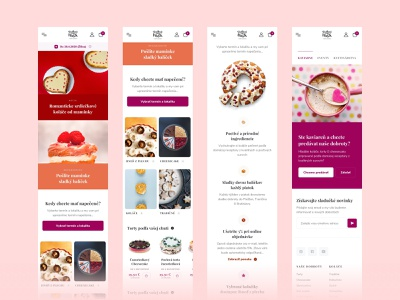 Sladkosti respo pages typography colors colorful minimal uiux clean ui ecommerce clean web bakery sweet responsive app design app