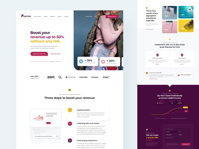 Persoo.AI website webdesign web ux ui tool revenue personalized minimal landing homepage header ecommerce czech colorful clean