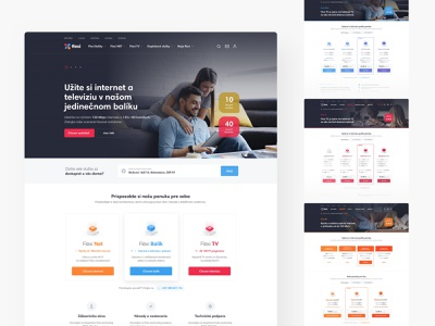 Flexi SK slovak ecommerce header homepage landing company internet provider ui ux webdesign website web