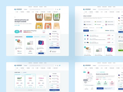 LiekoboxSK eshop website webdesign web ux ui minimal homepage home drugs header ecommerce health clean medical