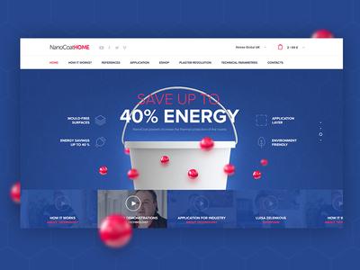 Homepage for NanoCoatHome slovakia web slider header ux ui ecommerce energy product webdesign landing homepage