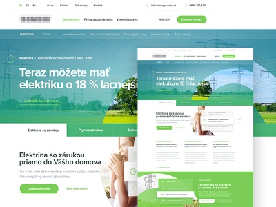 Design for Slovak energy supplier wedbesign slovakia supplier green energy ux ui web simple homepage landing layout