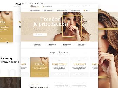 New webdesign for Slovak Dermatology wedbesign web ux ui slovakia layout landing beauty dermatology model gold homepage
