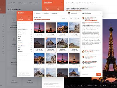 Team collaboration system website gallery webdesign web notification feed profile app ux ui admin dashboard