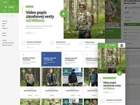 Webdesign for Armyshop