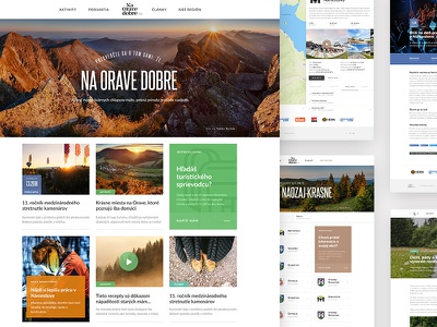 Na Orave Dobre website webdesing web ux ui responsive slovakia orava landing design clean
