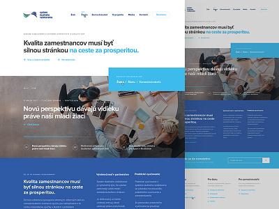 Dualne Vzdelavanie  website webdesing web ux ui responsive slovakia landing design clean